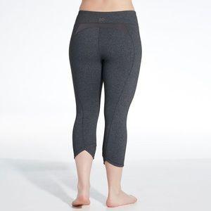 CALIA Essential Crossover Capri Gray Leggings